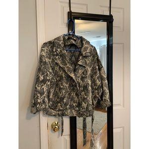 Oversized Snake Print Jacket